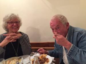 En middag med Sven på Cavo Doro innan han for hem till Norge.